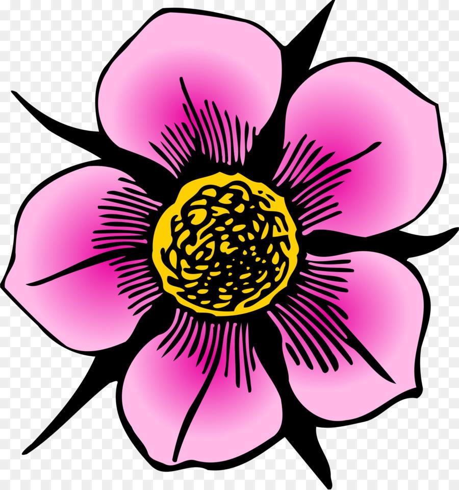 Очаровательный цветок рисунок