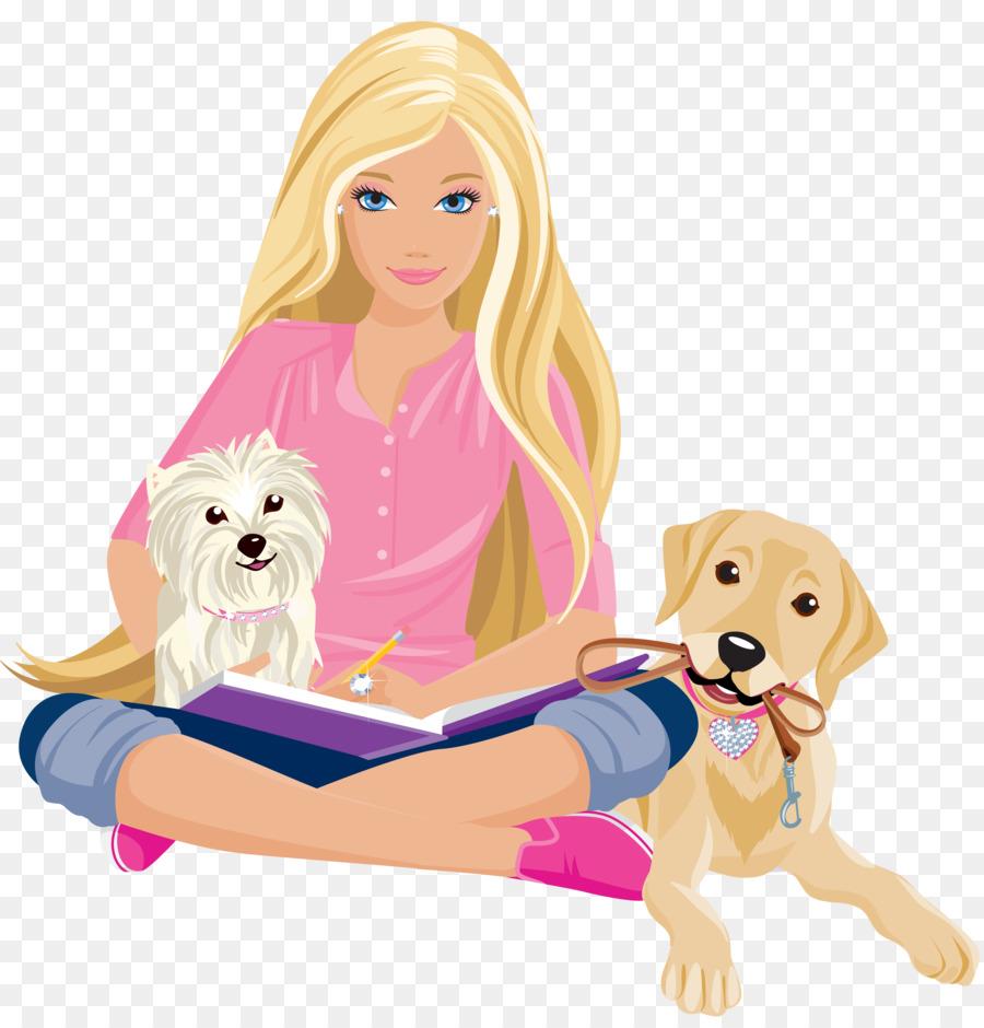 Девушка с собачкой рисунок