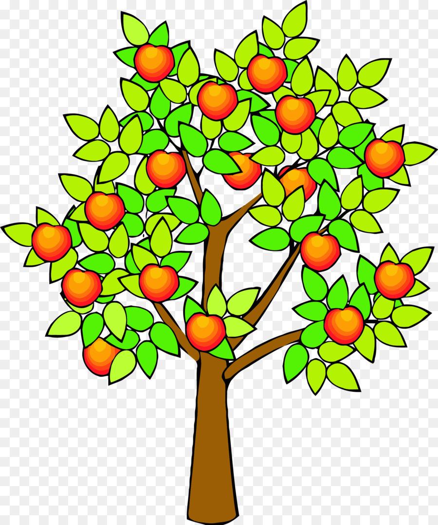 Автоботами, картинка дерево с яблоками