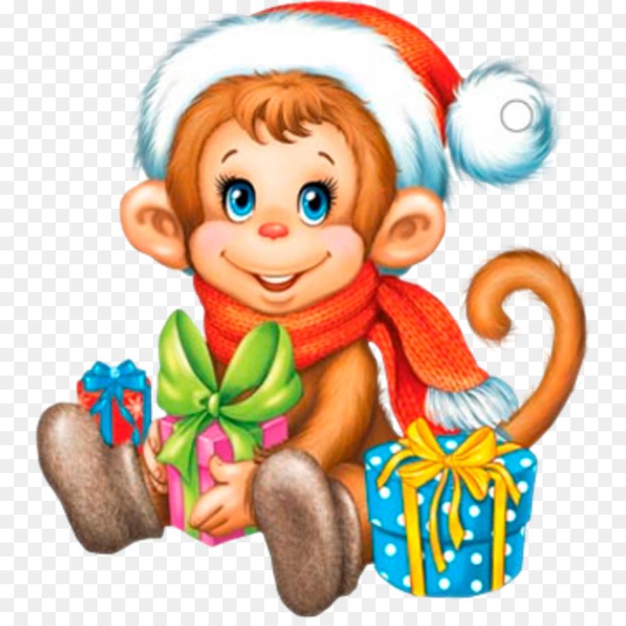 картинки с обезьянками для нового года одновременно применяются