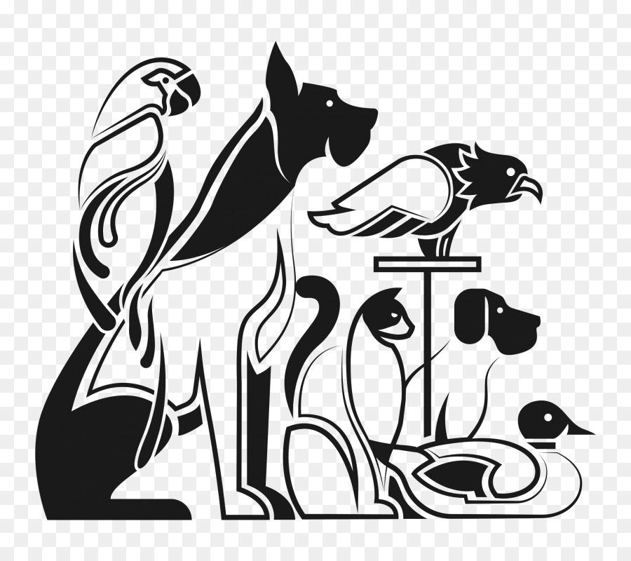 Картинки кошек и собак черно-белые