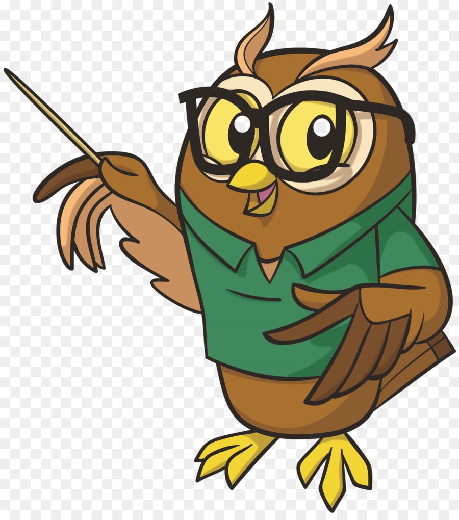 Картинка мудрой совы на прозрачном фоне