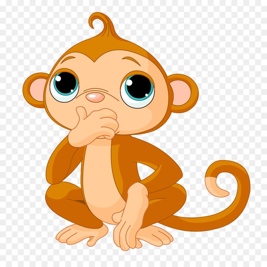 Объемной открытки, обезьяны рисунок