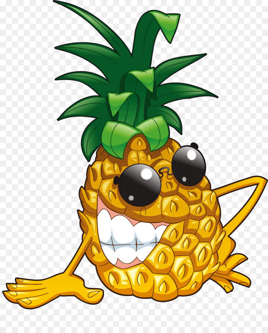 Картинка веселого ананаса, день