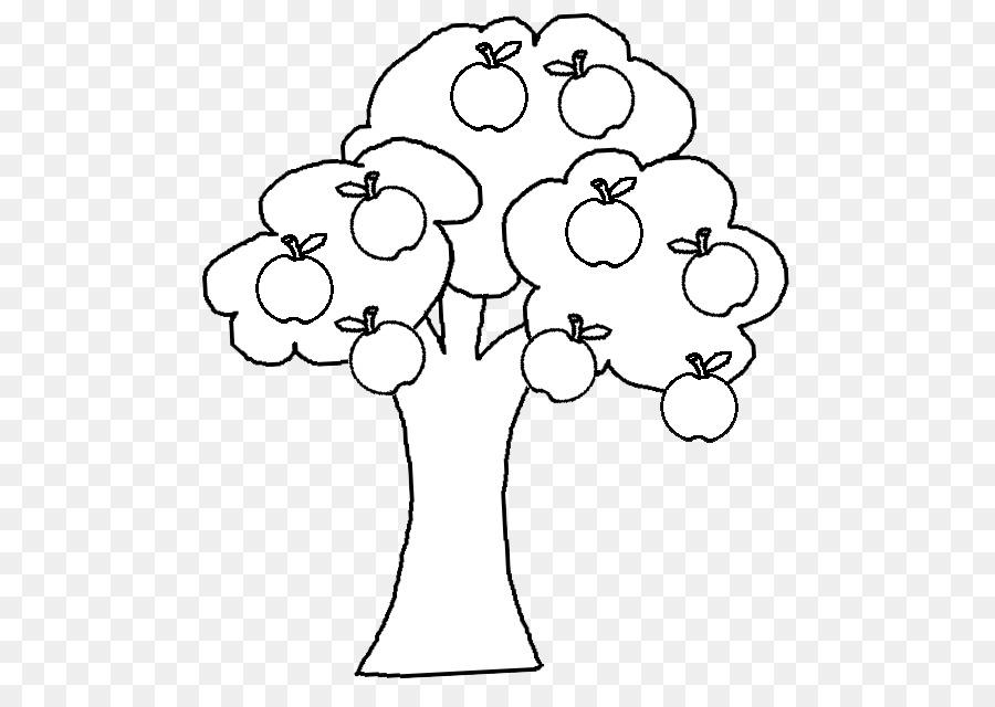Яблоня без яблок картинка раскраска