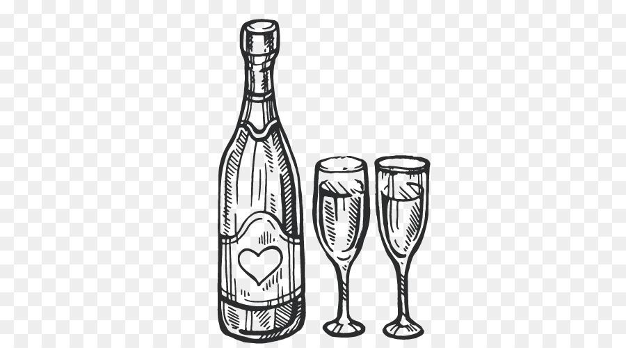 картинки шампанского карандашом порезать соломкой