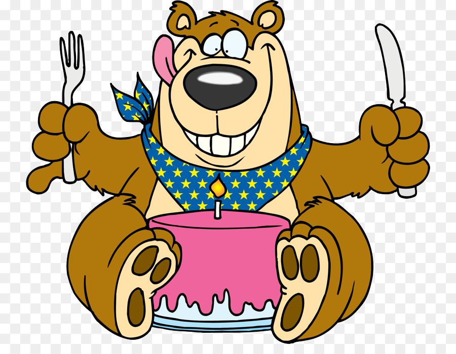 Открытка новому, картинка с днем рождения медведь