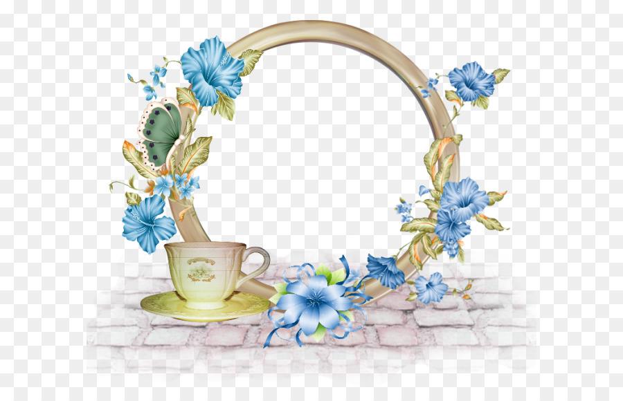 Фоторамка из цветов и кофе