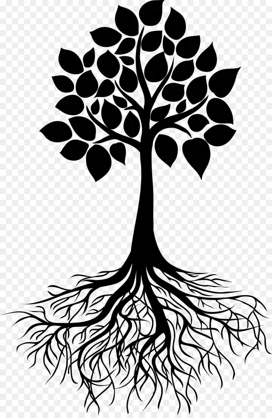 Дерево с корнями рисунок шаблон распечатать