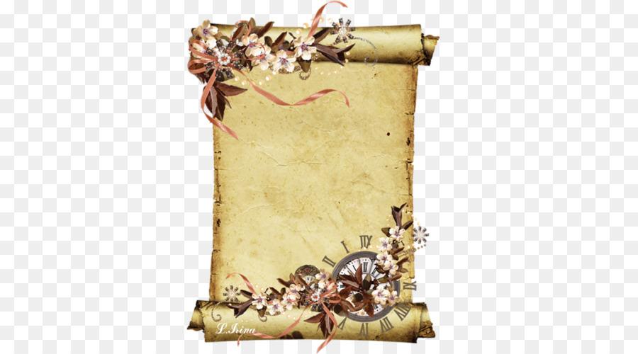 Открытки, шаблон открытки свиток