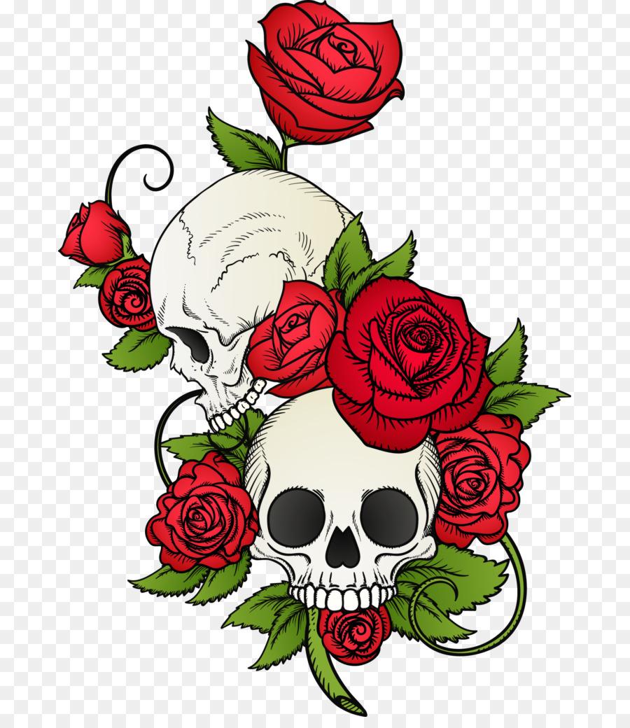 черепа картинки с розами подойдут такие