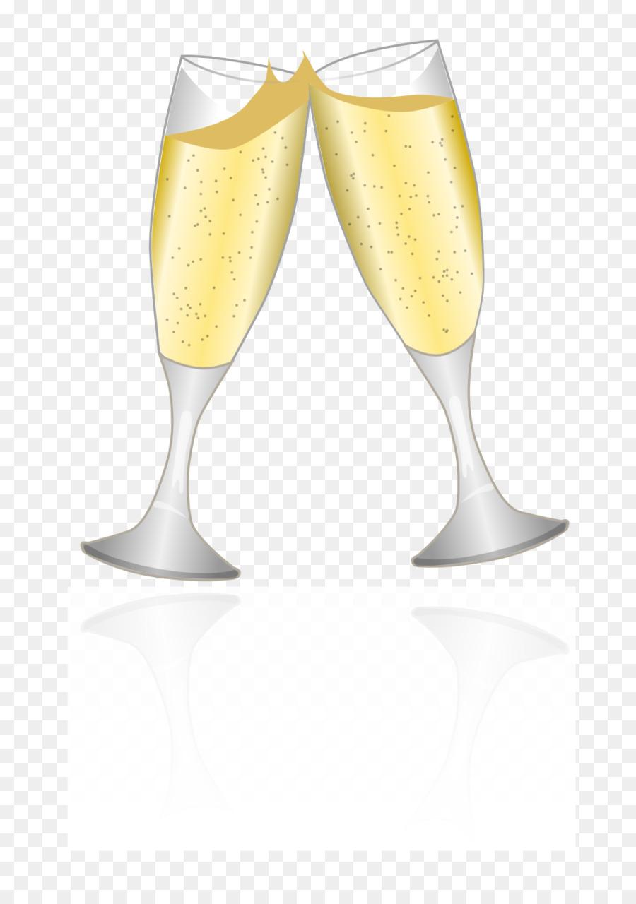 Бокал шампанского рисунок