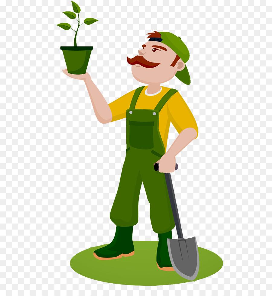 Садовник картинки нарисованные, днем