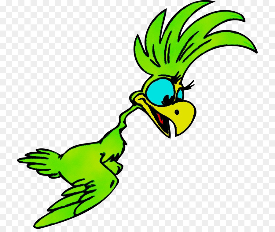 Прикольный попугай рисунок