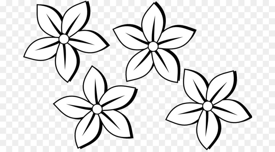Картинка цветочек черно-белый