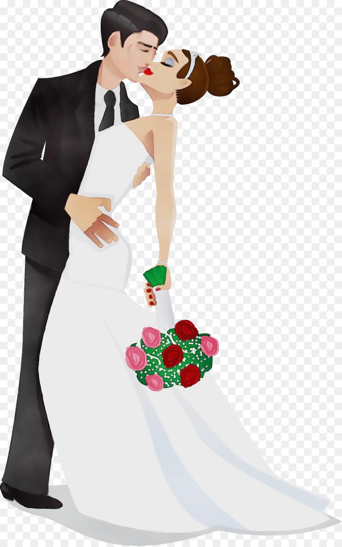 Жених и невеста открытка картинка