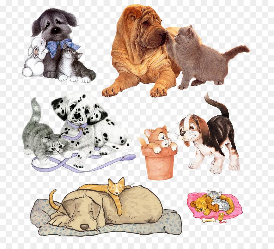 Картинки собака и кошка для детей, онлайн