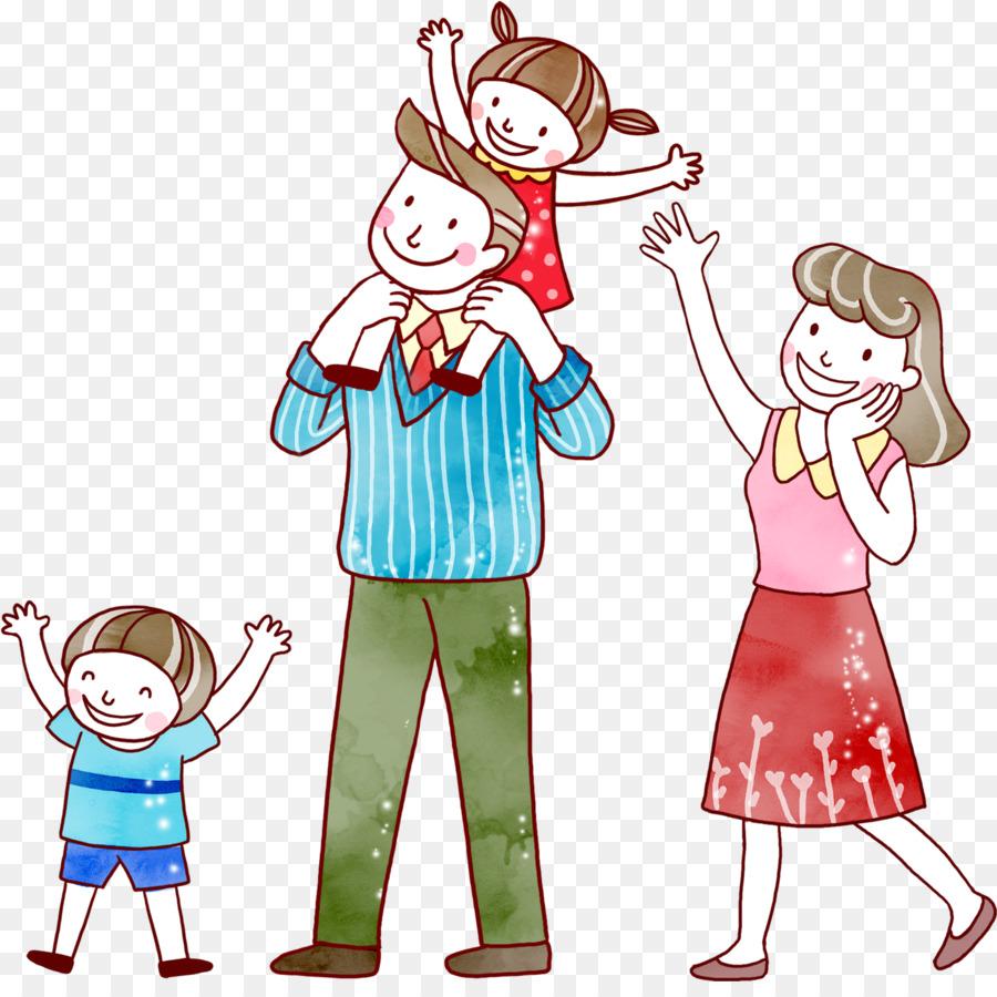 Картинки рисованные детей с родителями