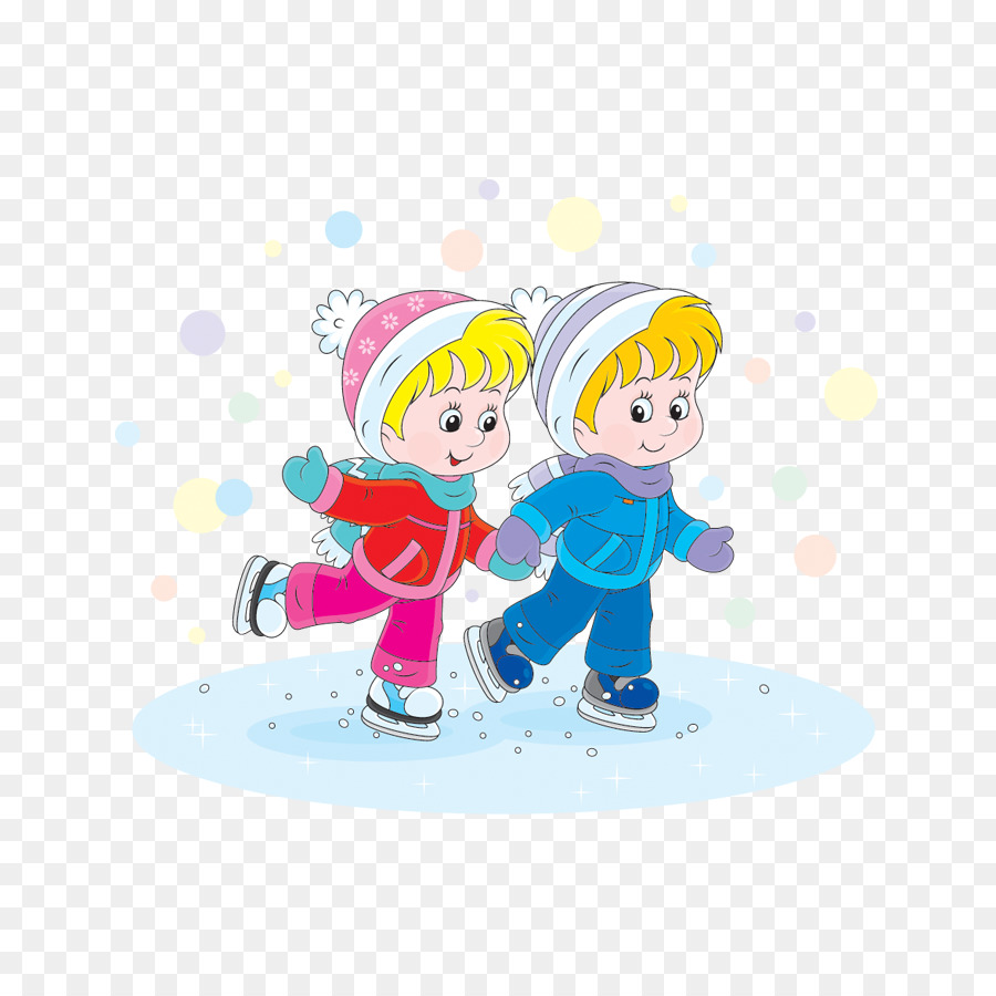 Картинки зима дети на коньках