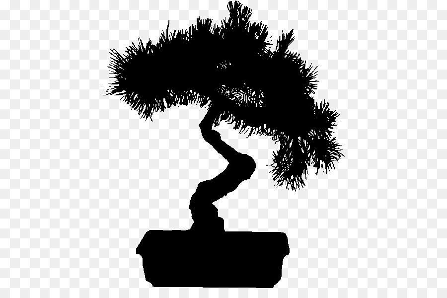 картинки трафарет растений бонсай