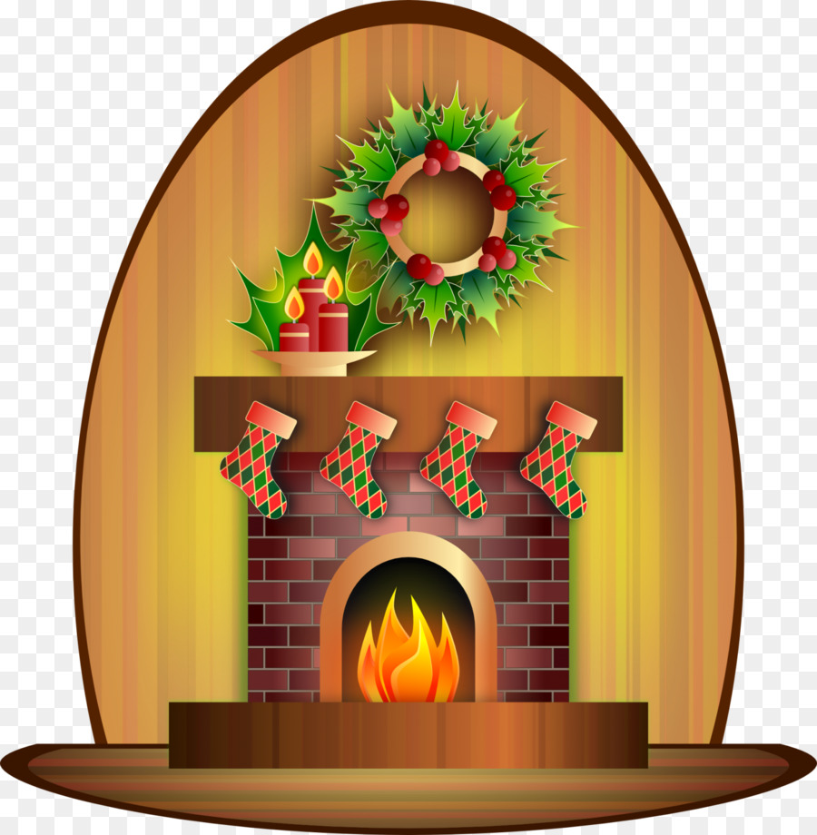 Картинка камина с огнем для детей, елка новый год