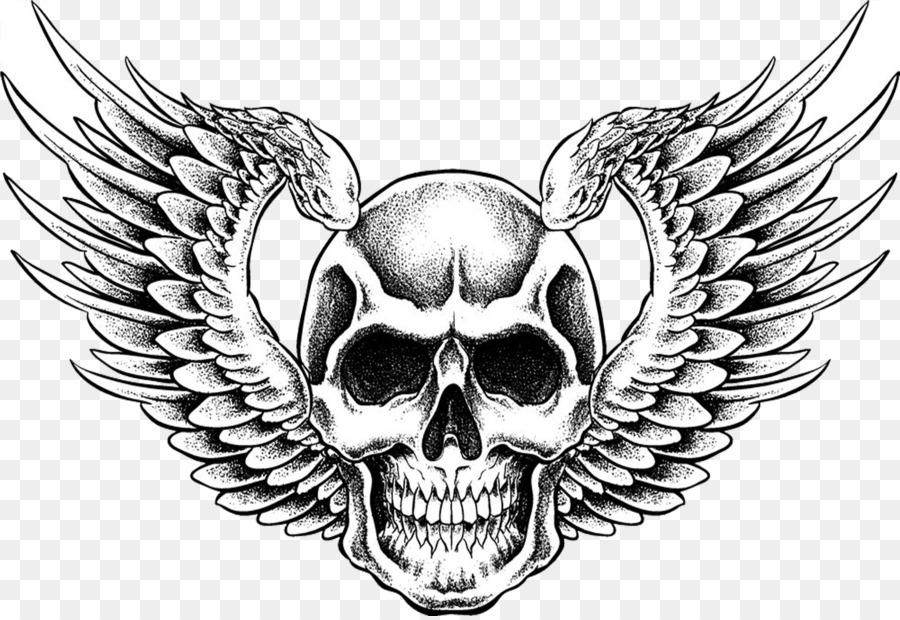 Картинки крылья череп