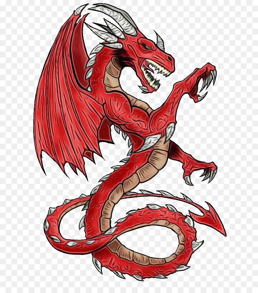 Красный дракон картинки на белом фоне
