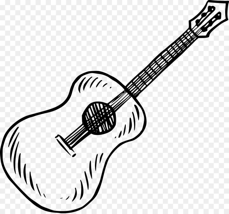 Картинка гитары нарисованная