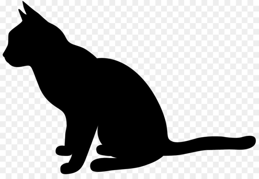 Картинки черных силуэтов кошек