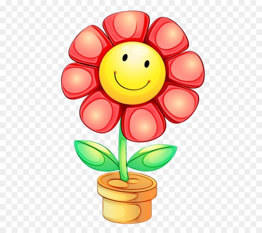 Картинка цветок улыбающийся