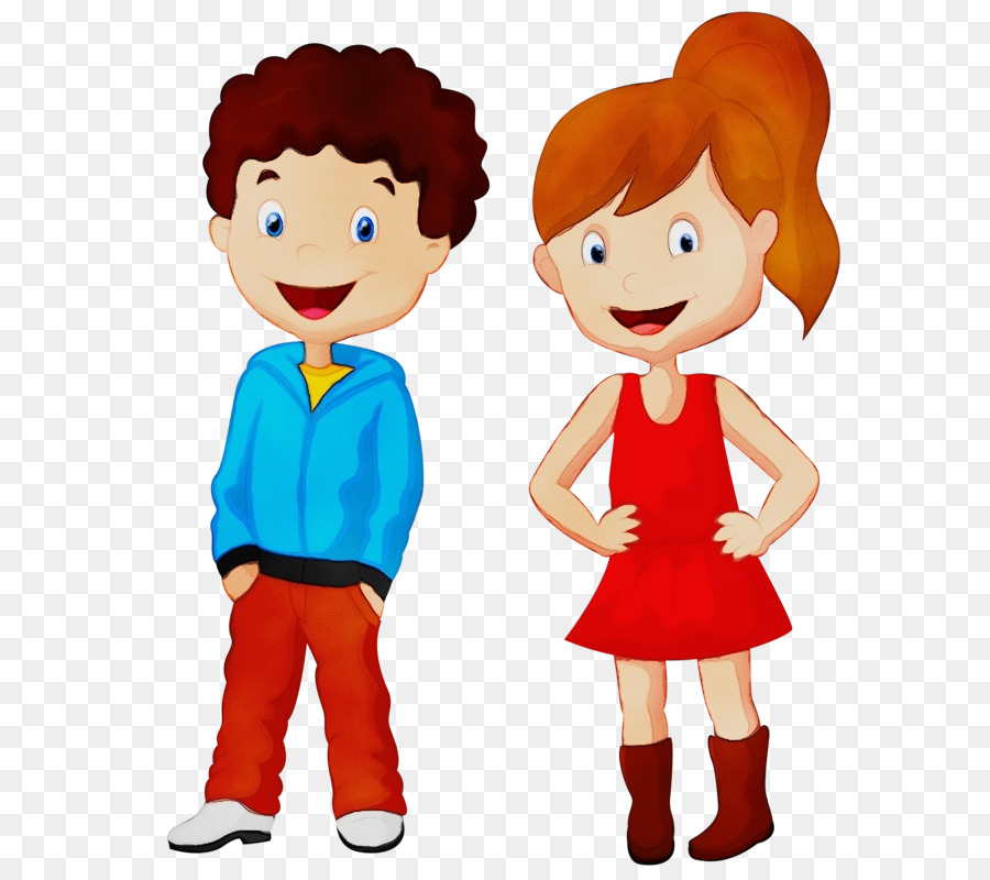 Картинка девочки и мальчика детская