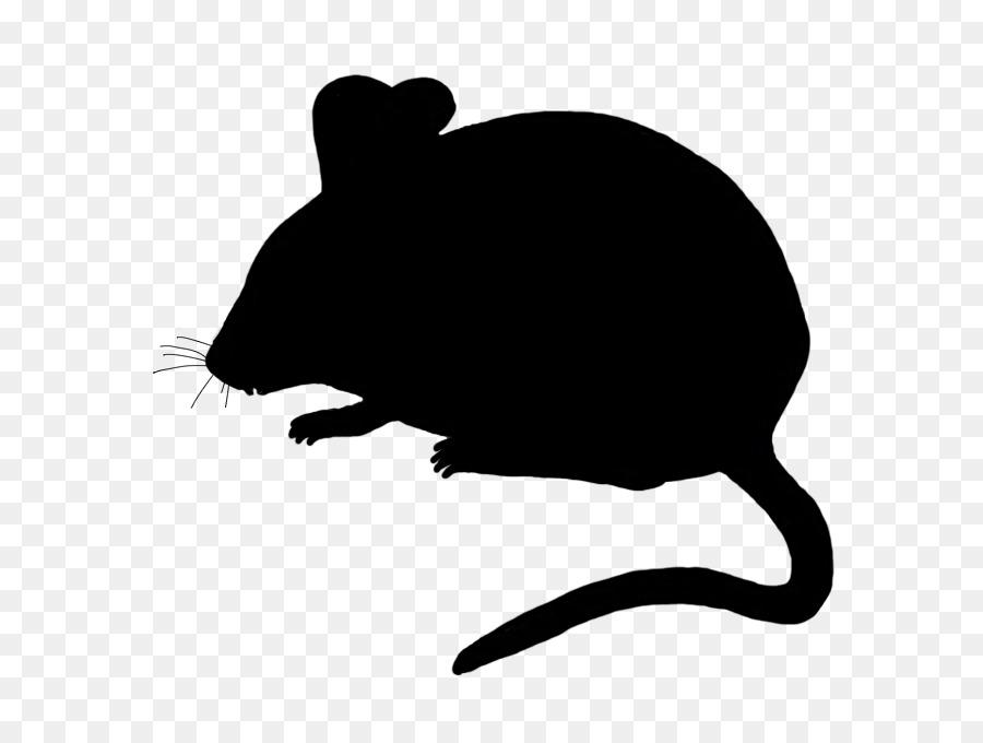 картинка силуэт крысы