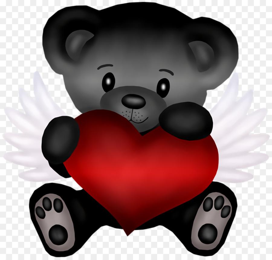 Мишки с сердцем картинка