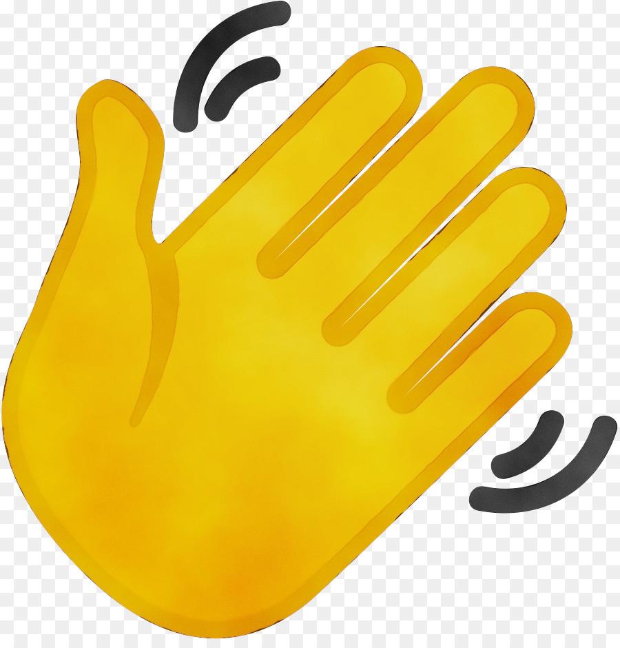 hand waving clipart - 896×927